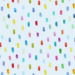 Watercolor confetti on blue