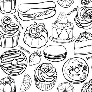 Sweet Treats colouring page