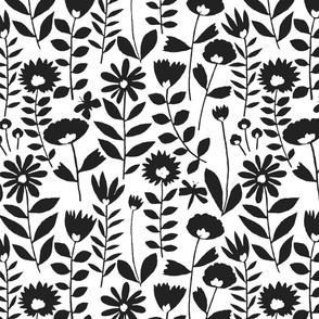 cutout flower small scale (black on white)