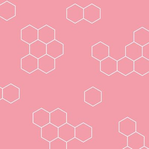 Abstract geometric honeycomb bee lovers honey print pink