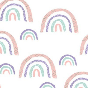 I wanna be a rainbow high in the sky cool abstract trend print pastel pink mint girls