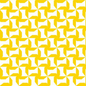 Abstract Windmills yellow / Small scale