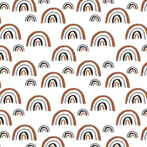 I wanna be a rainbow high in the sky cool abstract trend print copper white SMALL