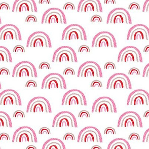 I wanna be a rainbow high in the sky cool abstract trend print hot pink red girls SMALL