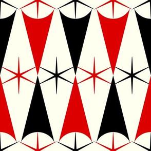 Starburst Harlequin - Red and Black