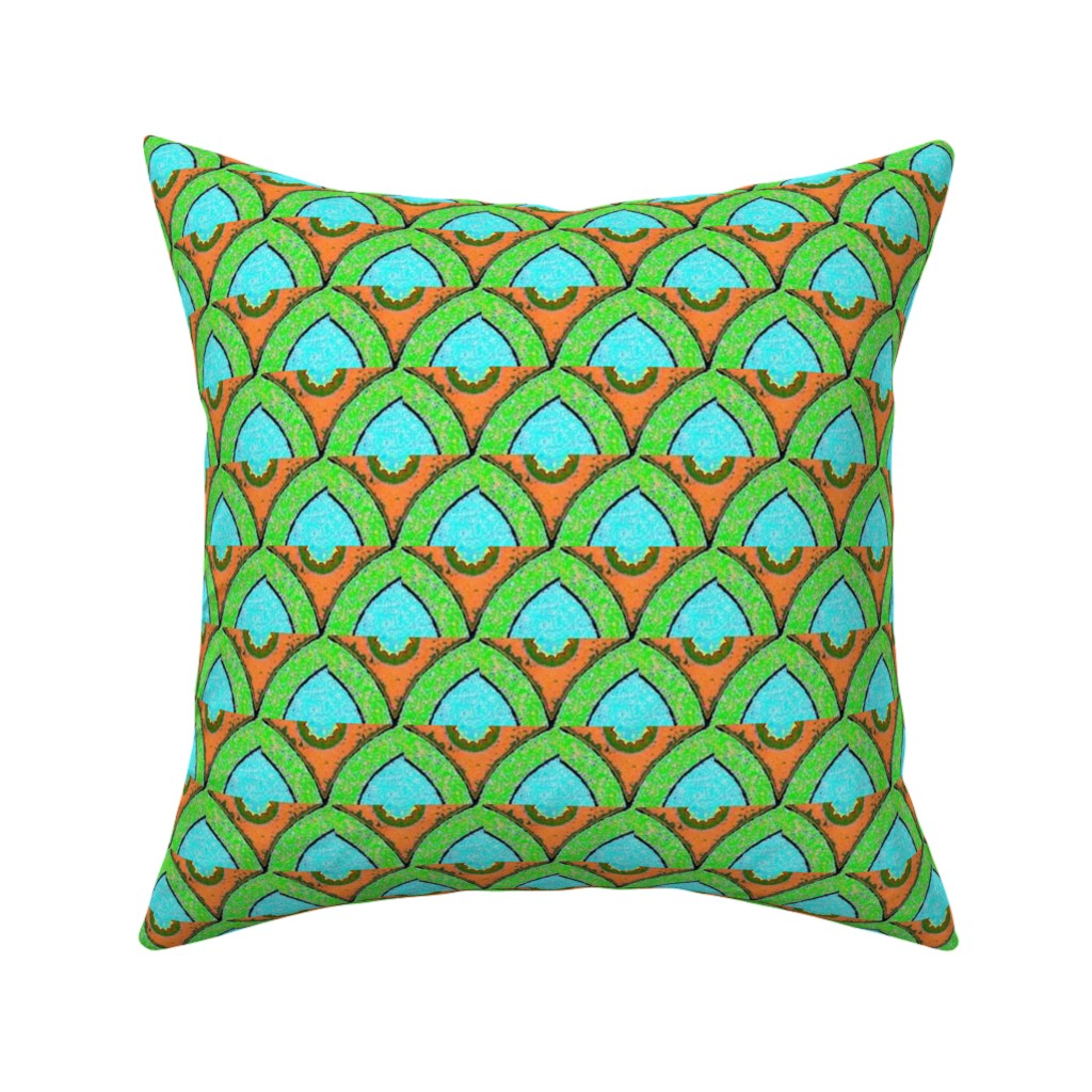 Catalan Throw Pillow featuring egyptian 107 by hypersphere