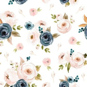 Blush and Blue Floral with Extras Medium