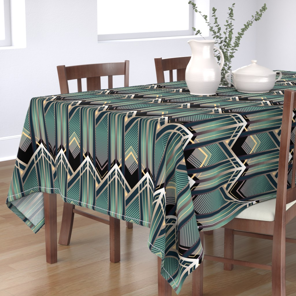Bantam Rectangular Tablecloth featuring Emerald City by sowilofir
