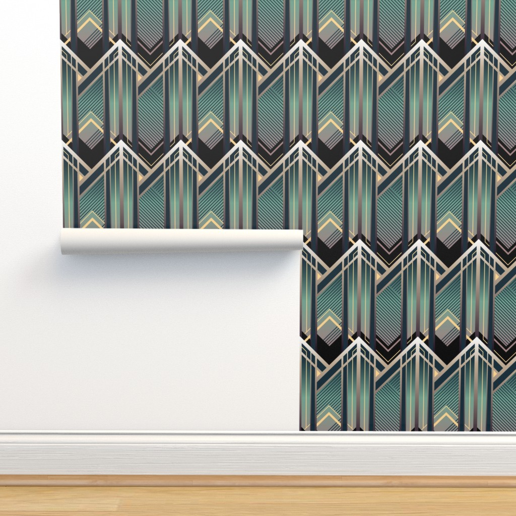 Isobar Durable Wallpaper featuring Emerald City by sowilofir