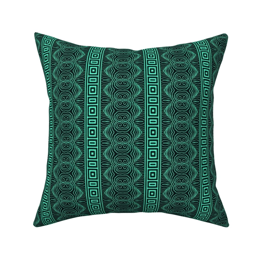 Catalan Throw Pillow featuring chinoise 53 by hypersphere
