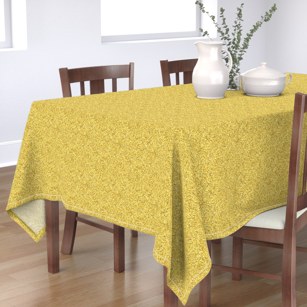 Bantam Rectangular Tablecloth featuring CD47 - Speckled  Gold Texture by maryyx