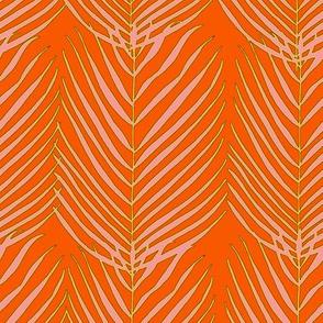 Flamingo palm orange yellow
