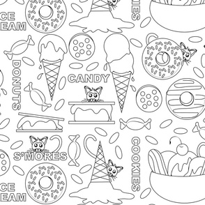 Kitty Food Frenzy Lake Coloring Book