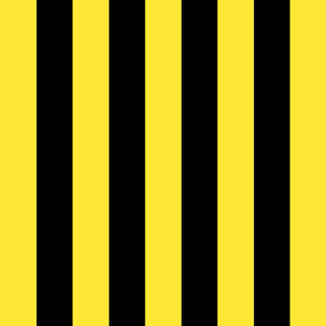 yellow and black stripes 2in :: halloween vertical