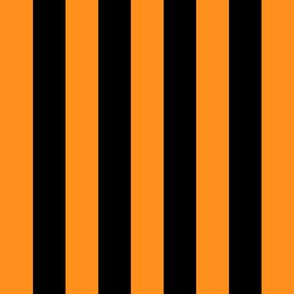 orange and black stripes 2in :: halloween vertical