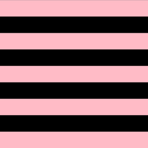 light pink and black stripes 2in :: halloween