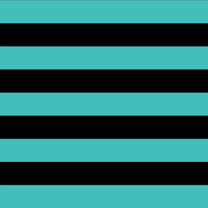 teal and black stripes 2in :: halloween