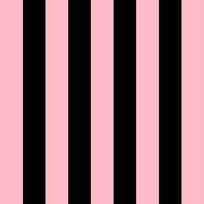 light pink and black stripes 2in :: halloween vertical