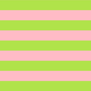 green and light pink stripes 2in :: halloween