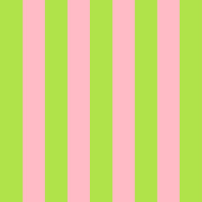 green and light pink stripes 2in :: halloween vertical