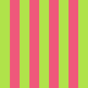 green and pink stripes 2in :: halloween vertical