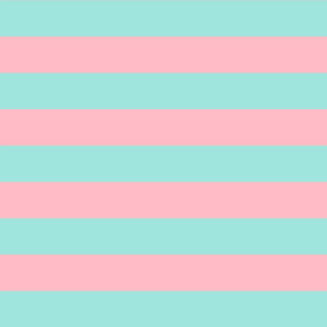 light teal and light pink stripes 2in :: halloween