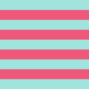 light teal and pink stripes 2in :: halloween