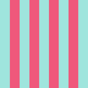 light teal and pink stripes 2in :: halloween vertical