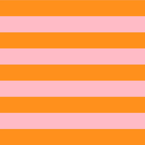 orange and light pink stripes 2in :: halloween