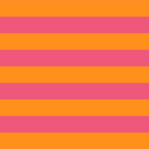 orange and pink stripes 2in :: halloween