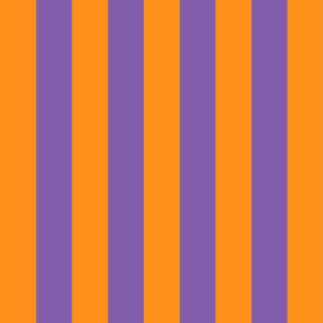 orange and purple stripes 2in :: halloween vertical