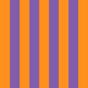 orange and purple stripes 2in :: halloween vertical