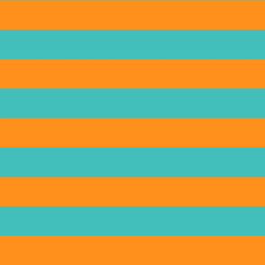 orange and teal stripes 2in :: halloween