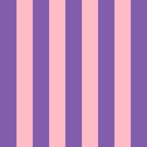 purple and light pink stripes 2in :: halloween vertical