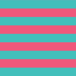 teal and pink stripes 2in :: halloween