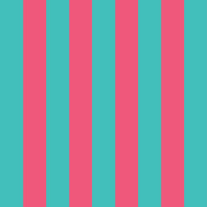 teal and pink stripes 2in :: halloween vertical