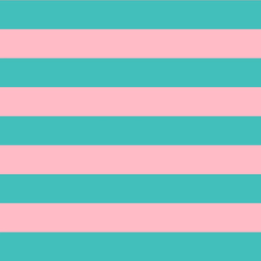 teal and light pink stripes 2in :: halloween