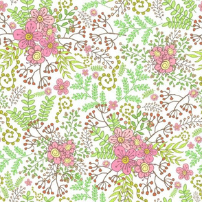 Berries & Blossoms - White