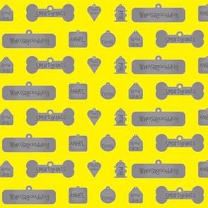 1 Inch Good Dog Tags Yellow
