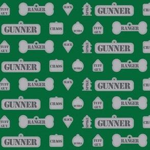 1 Inch Macho Dog Tags Green