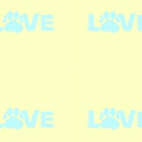 Love Pastel Yellow & Teal