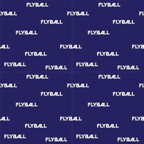 Flyball Text Blue