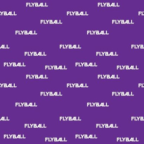 Flyball Text Purple