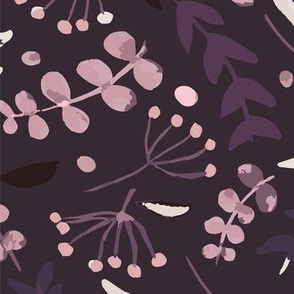 Simple Florals - Purple Background