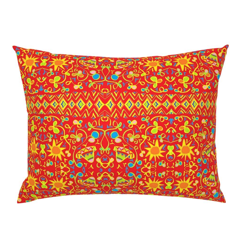 Campine Pillow Sham featuring Kuwasili 7 by tabasamu_design