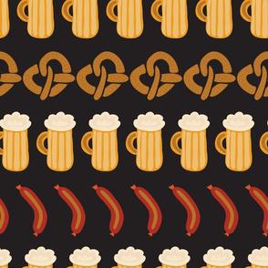 Beer, pretzels, and sausages for the Oktoberfest!