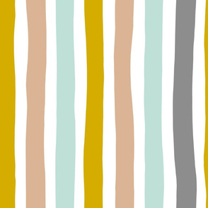 Rainbow beams abstract vertical stripes trend colorful modern minimal design gender neutral gray mint mustard yellow boys JUMBO