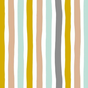 Rainbow beams abstract vertical stripes trend colorful modern minimal design gender neutral gray mint mustard yellow boys MEDIUM