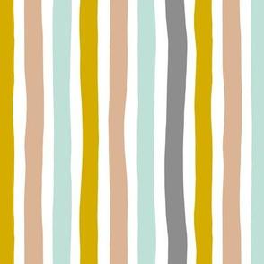 Rainbow beams abstract vertical stripes trend colorful modern minimal design gender neutral gray mint mustard yellow boys MEDIUM
