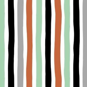 Rainbow beams abstract vertical stripes trend colorful modern minimal design gender neutral mint copper black fall MEDIUM